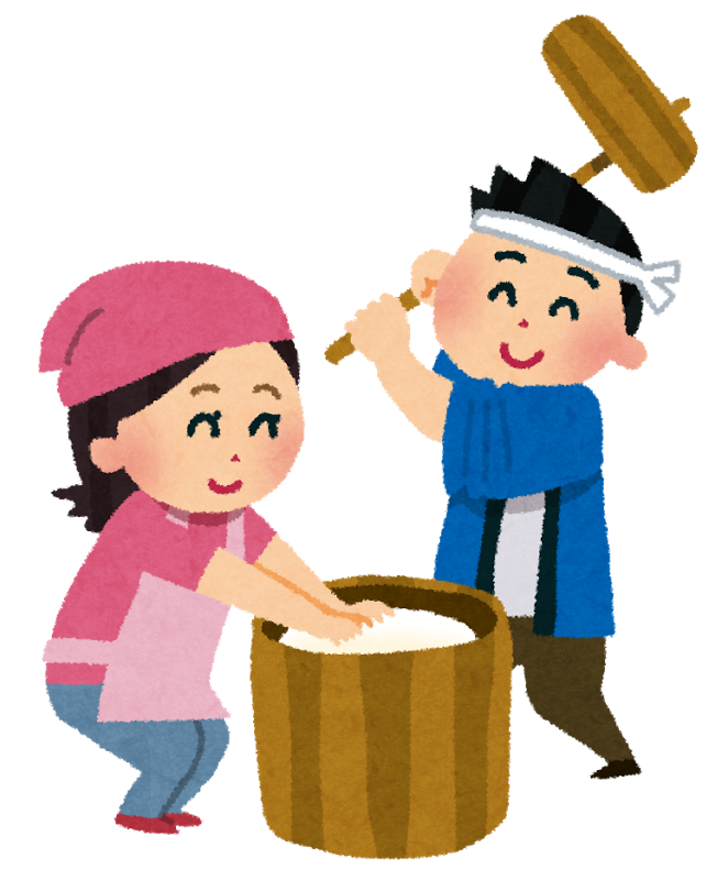 ☆お餅つき☆認可保育所(みつよし園)2