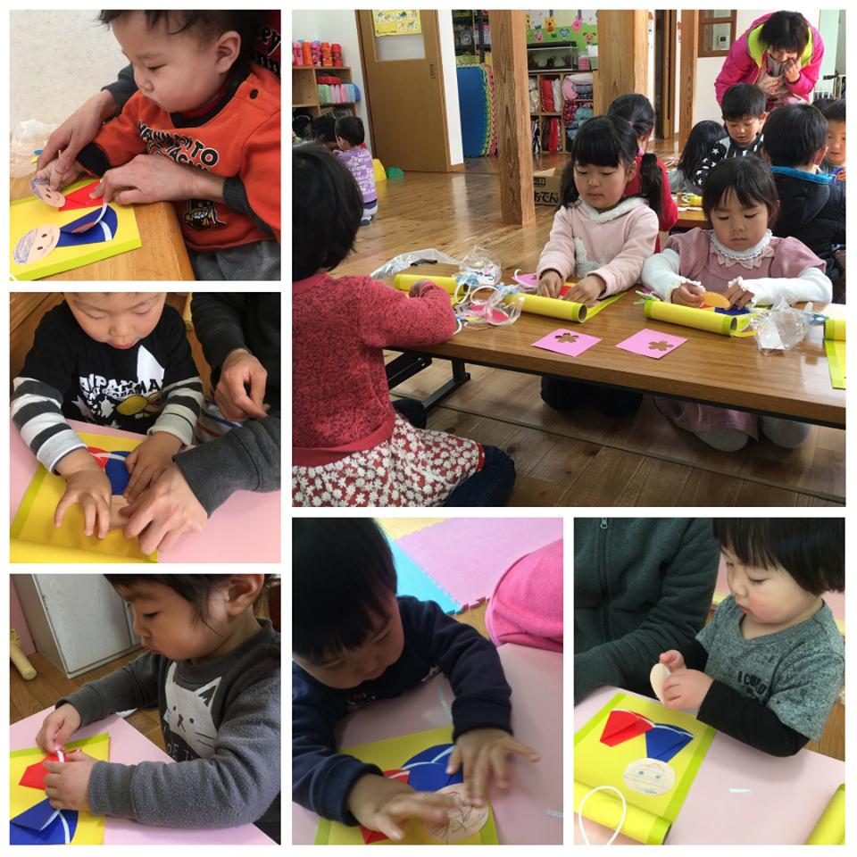 ☆雛祭り製作とバレンタインチョコすくい☆認可保育所(みつよし園)2