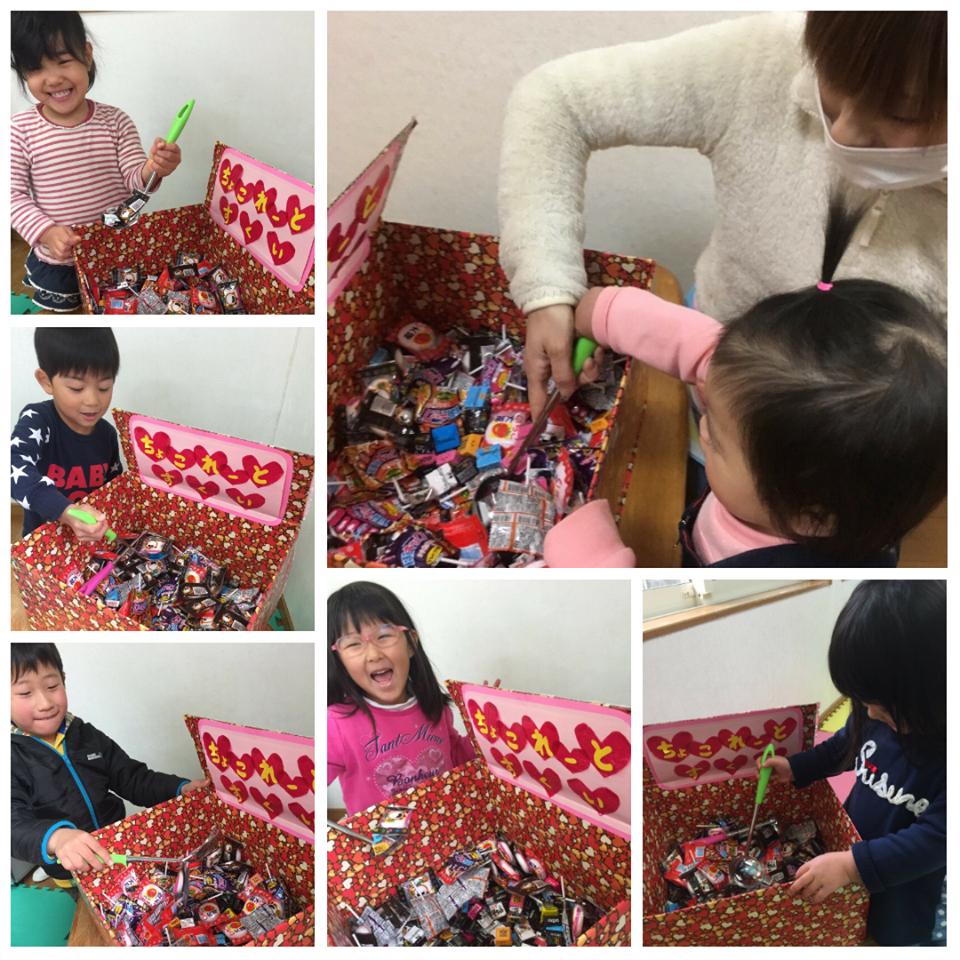 ☆雛祭り製作とバレンタインチョコすくい☆認可保育所(みつよし園)4